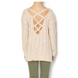 Double Zero Cable Knit Sweater